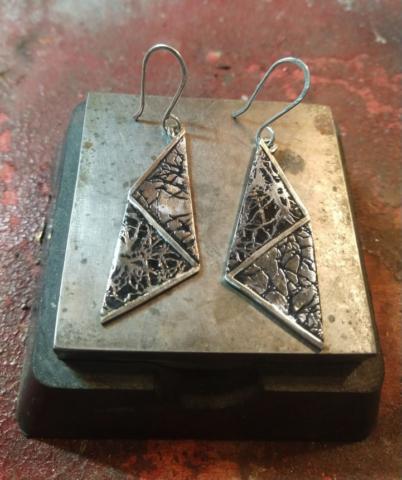 Lung golgi stain earrings
